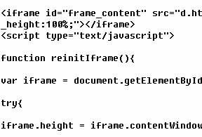 iframe自适应高度JS代码特效