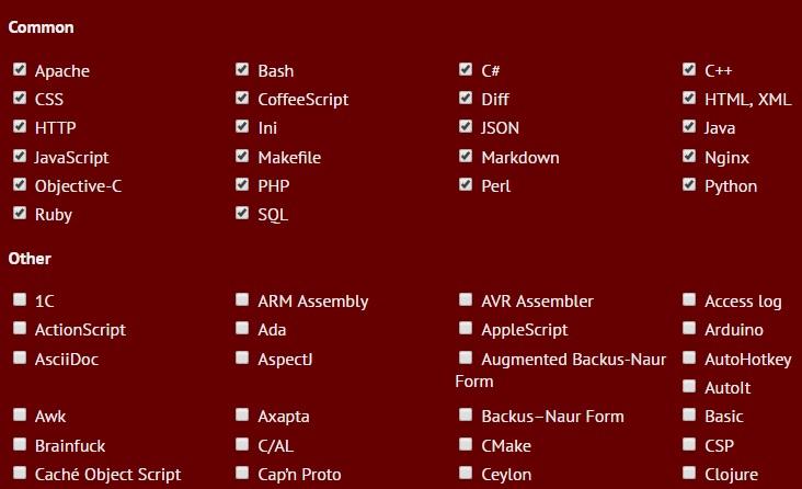 代码高亮插件highlight.js不依赖第三方库